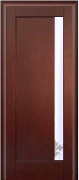Дверь Прима стекло - светлый орех