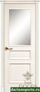 Дверь Чикаго стекло - красное дерево