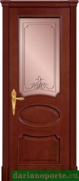 Дверь Оливия стекло - черешня