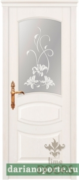 Дверь Махаон стекло - ясень бланко
