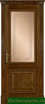 Дверь Турин стекло - миндаль