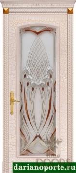 Дверь Селена стекло - дуб мокко