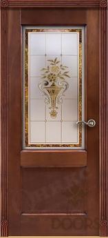 Дверь Италия 2 стекло - 17 цветов