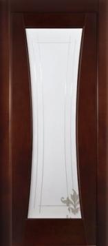 Дверь Коррида стекло - миланский орех