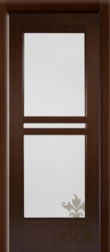 Дверь Квадро стекло - венге