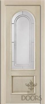 Дверь Сицилия стекло - дуб белый