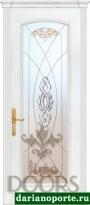 Дверь Селена стекло - ясень бланко