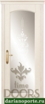 Дверь Премьера стекло - ясень золото