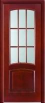 Дверь Бастион стекло - дуб белый