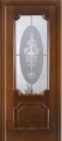Дверь Квартет стекло - дуб мореный
